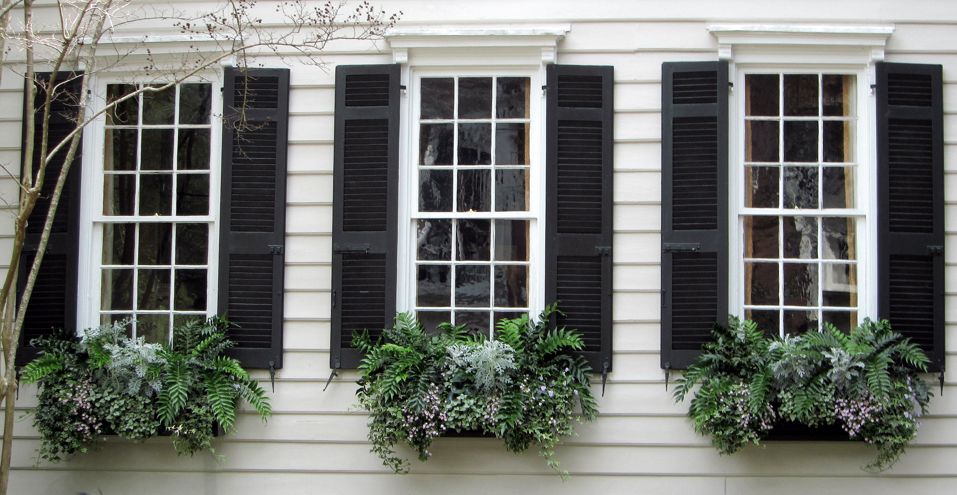 Exterior shutters acadian custom shutters for Transition windows for homes