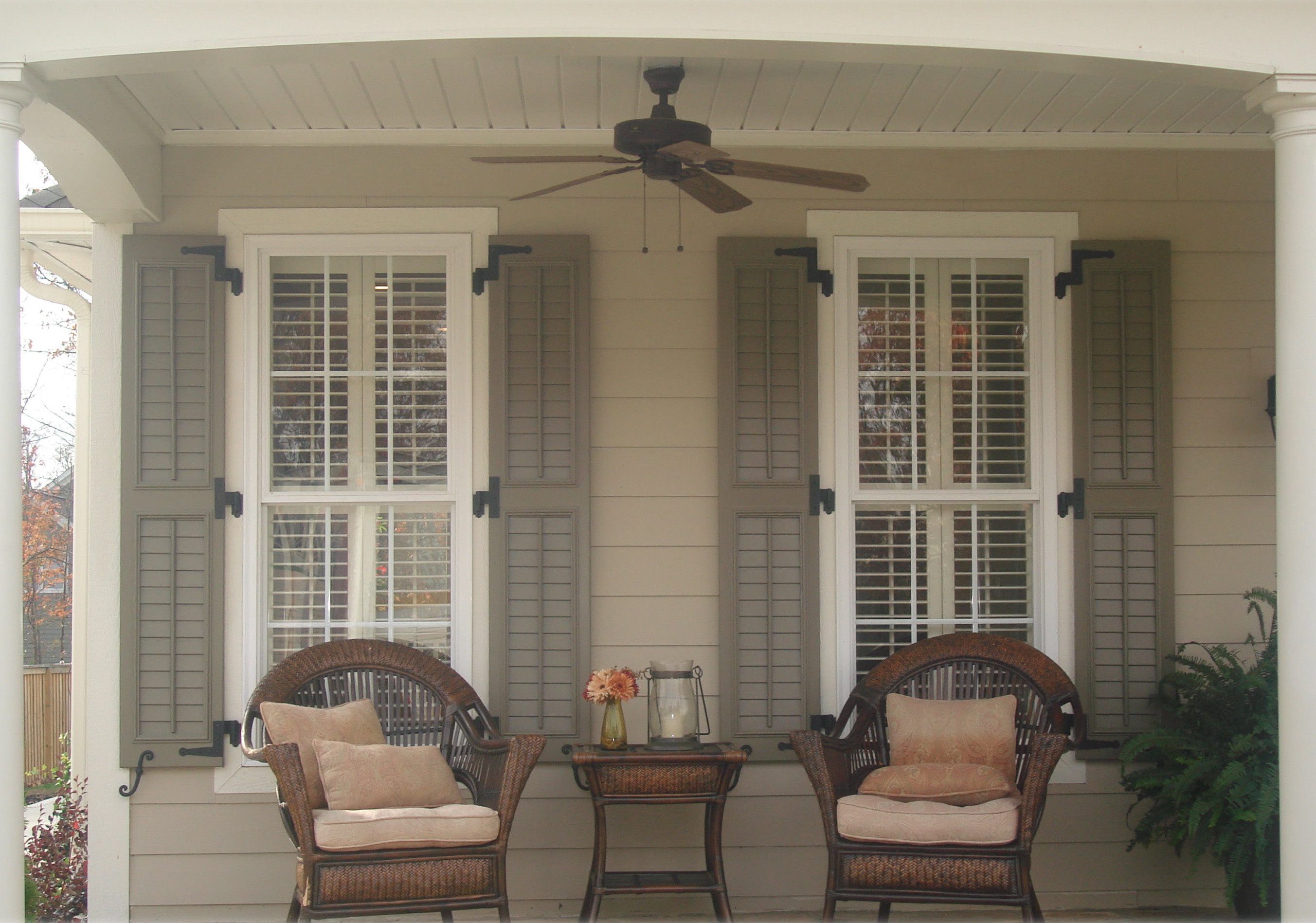 Stylish window shutters for window treatment ideas - Pictures of exterior shutters on homes ...